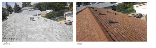 Roofing Replacement Before After Edmonton