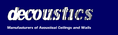 Decoustics - manufacturers of custom acoustical ceilings and walls.
